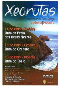 Cartel anunciador de las georutas en abril de 2017